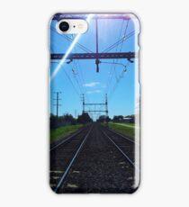 Rail Tracks Vanishing Point iPhone Case/Skin