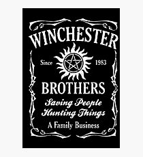 supernatural winchester Photographic Print