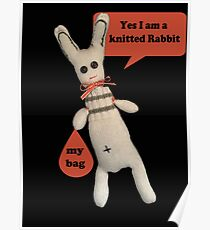 Yes I am a Knitted Rabbit Poster