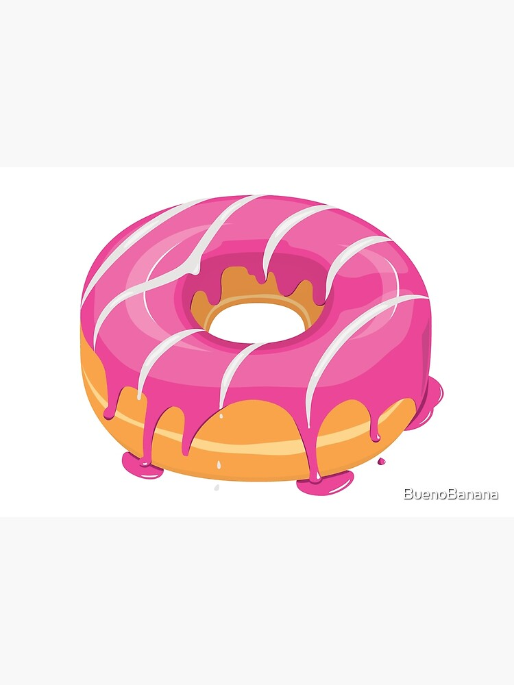 Creamy Pink White glazed Donut by BuenoBanana