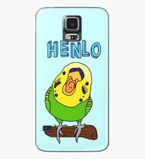 henlo - budgie Case/Skin for Samsung Galaxy