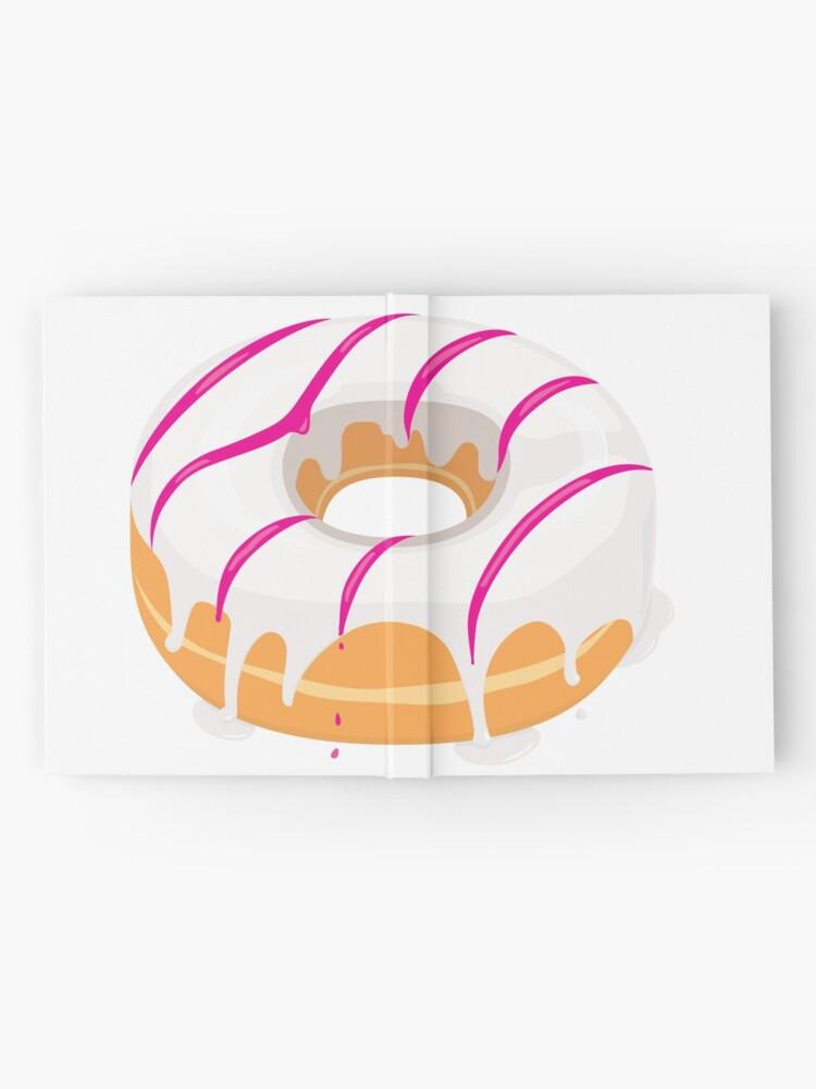 Alternate view of Creamy White Pink glazed Donut Hardcover Journal
