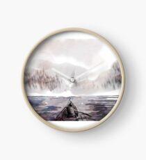 Boats on a lake Clock