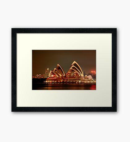 Ovation - The Opera House Goes HDR - Moods of A City #18 - Sydney Australia Framed Print