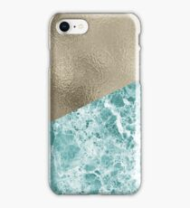 Inverno Turchese marble and gold iPhone Case/Skin