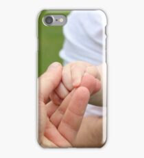 baby holds his father's hand iPhone Case/Skin