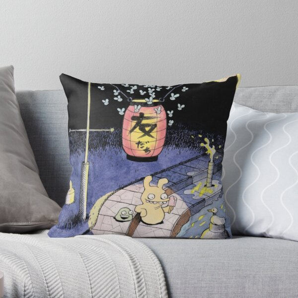 Tobias and Jube: Tomodachi Throw Pillow