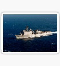 The Whidbey Island-class dock landing ship USS Rushmore. Sticker