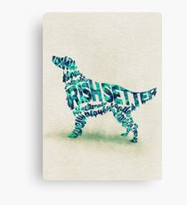 The Irish Setter Typographic Watercolor Painting Canvas Print