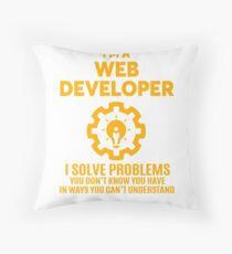 WEB DEVELOPER - NICE DESIGN 2017 Throw Pillow