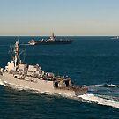 USS James E. Williams ist unterwegs mit USS Enterprise und USS Nitze. von StocktrekImages