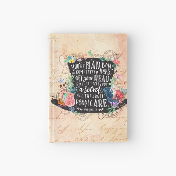 Mad Hatter Hardcover Journal