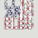 US Flag City - Los Angeles by HandDrawnTees