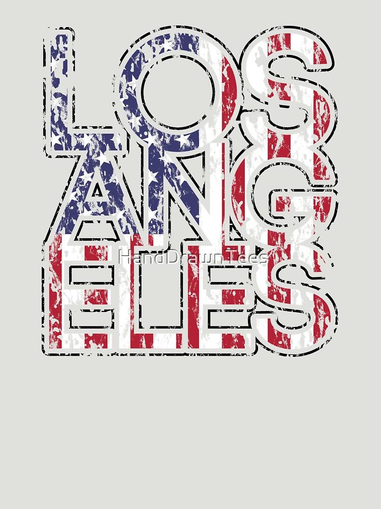 US Flag City - Los Angeles by HandDrawnTees