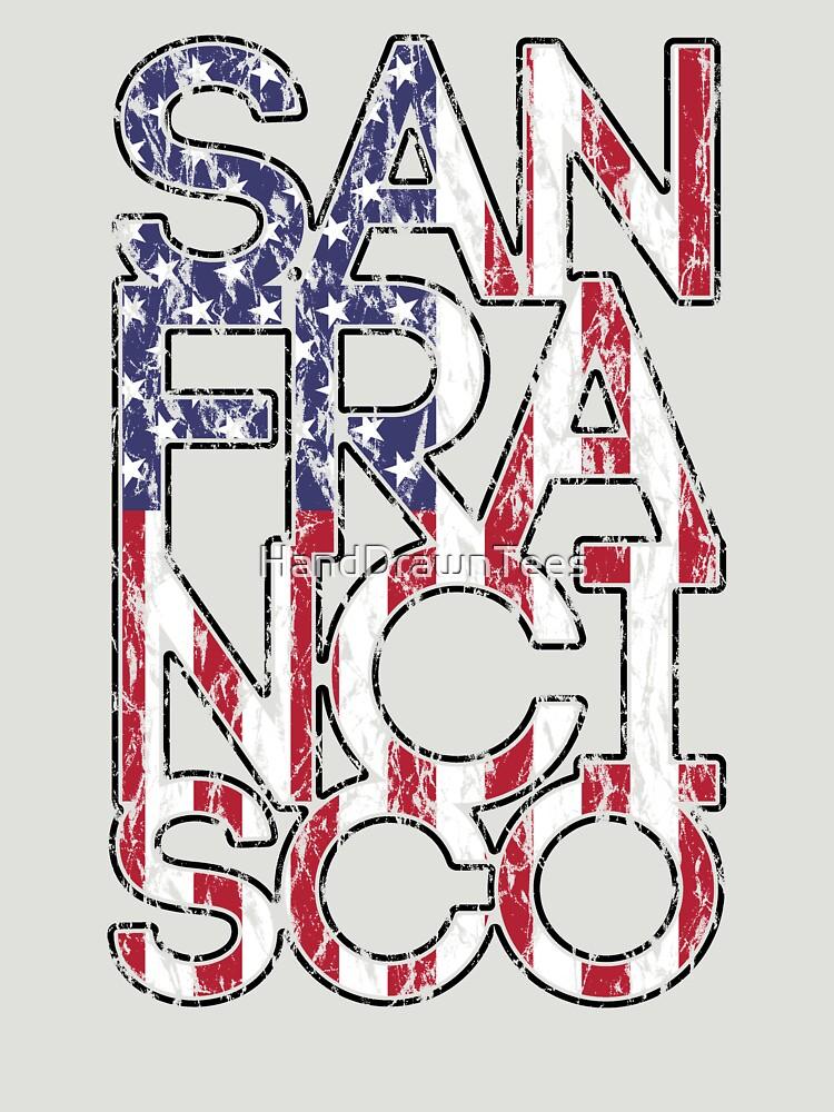 US Flag City - San Francisco by HandDrawnTees