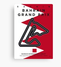 My F1 BAHRAIN Race Track Minimal Poster Canvas Print
