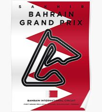 My F1 BAHRAIN Race Track Minimal Poster Poster