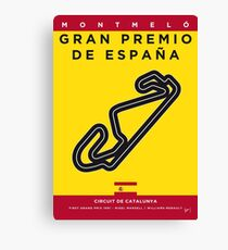 My F1 CATALUNYA Race Track Minimal Poster Canvas Print