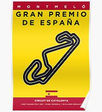 My F1 CATALUNYA Race Track Minimal Poster Poster