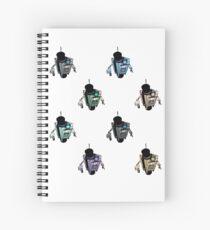 Fancy Claptrap Rainbow Spiral Notebook