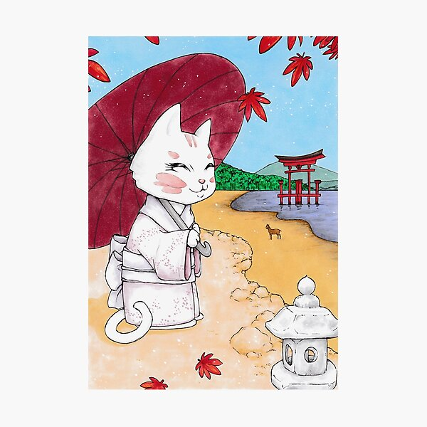 Geisha cat from Miyajima Impression photo