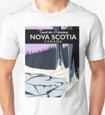 Nova Scotia, Canada holiday travel poster. Unisex T-Shirt