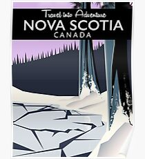 Nova Scotia, Canada holiday travel poster. Poster