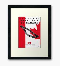My F1 GILLES-VILLENEUVE Race Track Minimal Poster Framed Print