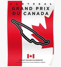 My F1 GILLES-VILLENEUVE Race Track Minimal Poster Poster