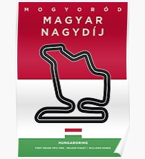 My F1 HUNGARORING Race Track Minimal Poster Poster