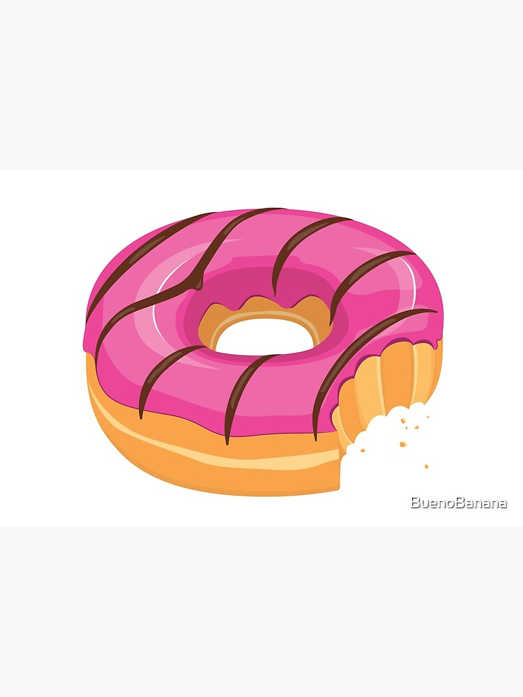 Pink Chocolate Glazed Donut with Bite by BuenoBanana