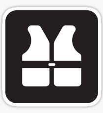 Safety First, Life Jacket Icon Sticker