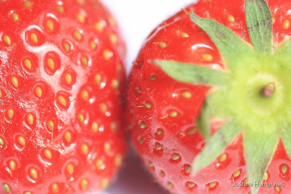 ummmm strawberries by Justine Humphries