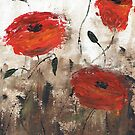 Poppies (brown background, card only) by Tanja Udelhofen