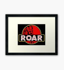 Roar Park funny tv show movie parody old classic  Framed Print