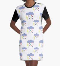 Raining Hearts Graphic T-Shirt Dress
