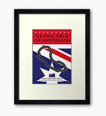 My F1 MELBOURNE Race Track Minimal Poster Framed Print