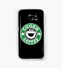 Cookie Coffee monster funny parody drink eat crazy Samsung Galaxy Case/Skin