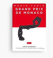 My F1 MONACO Race Track Minimal Poster Canvas Print