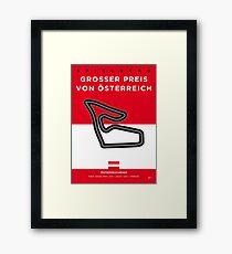 My F1 Osterreichring Race Track Minimal Poster.jpg Framed Print
