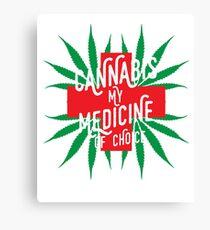 Cannabis Medicine Canvas Print
