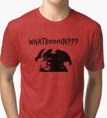 Moose - What Doing? Dog Tri-blend T-Shirt