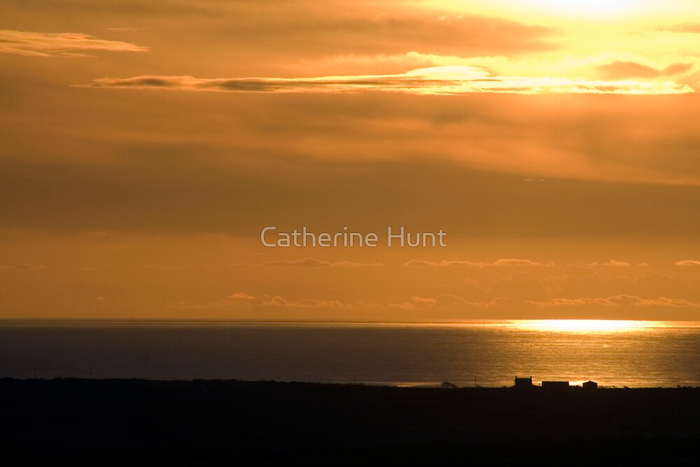 Houses at Sunset by Catherine Hunt