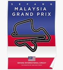 My F1 SEPANG Race Track Minimal Poster Poster