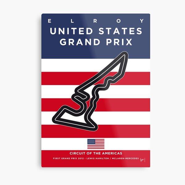 My F1 AMERICAS Race Track Minimal Poster Metal Print