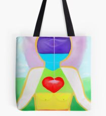 Lady Of The Rainbow - Alpha to Omega Tote Bag