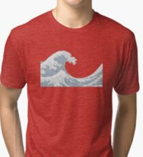 the great wave Tri-blend T-Shirt