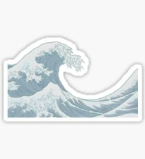 the great wave Sticker