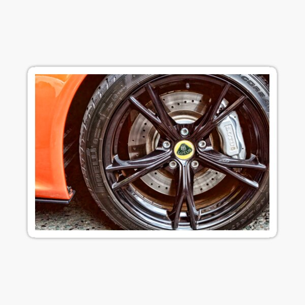 Lotus Sports Car Wheel Sticker