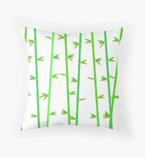 Bamboo background. Tropical asian plant background. Throw Pillow